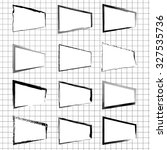 vector set of hand drawn frames ... | Shutterstock .eps vector #327535736