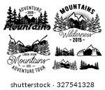 set of monochrome patterns... | Shutterstock .eps vector #327541328