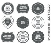 vintage emblems  labels. best... | Shutterstock .eps vector #327542120
