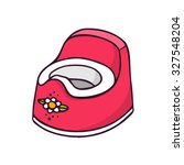 baby potty  bright vector... | Shutterstock .eps vector #327548204