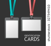 badge identification white... | Shutterstock . vector #327549410
