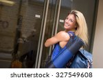 young woman going to the gym | Shutterstock . vector #327549608
