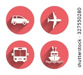 transport icons. car  airplane  ... | Shutterstock .eps vector #327550280