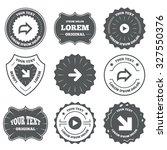 vintage emblems  labels. arrow...