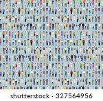 multiethnic casual people... | Shutterstock . vector #327564956