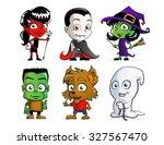 cute halloween characters | Shutterstock .eps vector #327567470