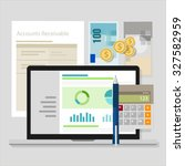 account receivable accounting... | Shutterstock .eps vector #327582959