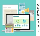 accounting software balance... | Shutterstock .eps vector #327582968