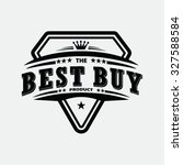 vintage best buy  stamp and... | Shutterstock .eps vector #327588584