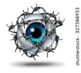 Eye Pain Medical Concept As A...