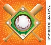 Baseball Diamond On Crossed...