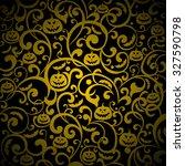halloween background. vector... | Shutterstock .eps vector #327590798
