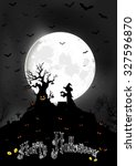 halloween background on the... | Shutterstock .eps vector #327596870