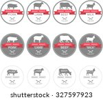 set of labels  badges and...   Shutterstock .eps vector #327597923