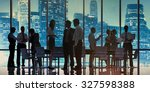 business people meeting... | Shutterstock . vector #327598388