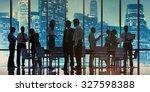 business people meeting... | Shutterstock . vector #327598388