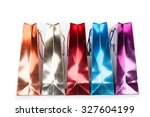 colorful shopping bags with... | Shutterstock . vector #327604199