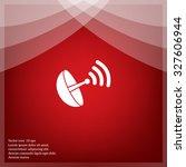 radar satellite dish   vector... | Shutterstock .eps vector #327606944