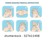hands washing medical... | Shutterstock .eps vector #327611408