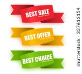 collection origami sale banners.... | Shutterstock .eps vector #327613154