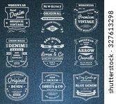 classical blue denim jeans... | Shutterstock . vector #327613298