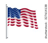 national american united states ... | Shutterstock . vector #327614138