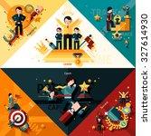 success corners set with...   Shutterstock . vector #327614930
