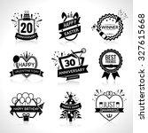 birthday and wedding... | Shutterstock . vector #327615668