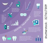 dental care and treatment with... | Shutterstock . vector #327617309
