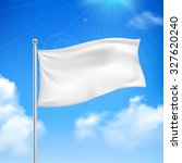white flag in the wind against... | Shutterstock . vector #327620240