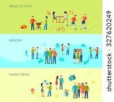 friendship horizontal banners... | Shutterstock . vector #327620249