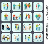 friends shadow icons set with... | Shutterstock . vector #327620354