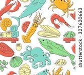 seamless vector background with ... | Shutterstock .eps vector #327620663