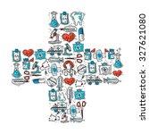 medicine and healthcare concept ... | Shutterstock . vector #327621080