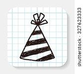 doodle party hats | Shutterstock . vector #327623333