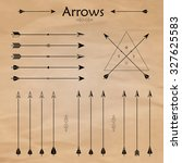 set of different arrows on the... | Shutterstock .eps vector #327625583