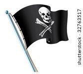 jolly roger black flag   Shutterstock .eps vector #32763517