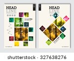 business brochure design... | Shutterstock .eps vector #327638276