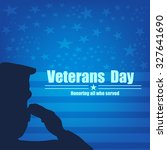 us army soldier saluting on... | Shutterstock .eps vector #327641690