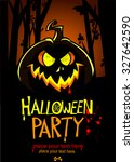 halloween party invitation... | Shutterstock .eps vector #327642590
