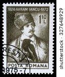romania   circa 1974  a stamp... | Shutterstock . vector #327648929