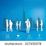 modern infographic for business ...   Shutterstock .eps vector #327650378