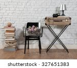 old suitcase interior with... | Shutterstock . vector #327651383