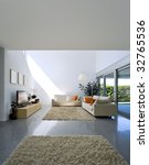 interior modern brick house | Shutterstock . vector #32765536