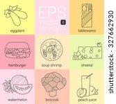eggplant  tableware  hamburger...   Shutterstock .eps vector #327662930
