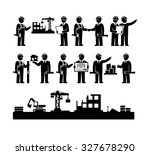construction engineering... | Shutterstock .eps vector #327678290