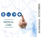medical doctor working with...   Shutterstock . vector #327678800