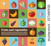 organic food concept vector... | Shutterstock .eps vector #327680930
