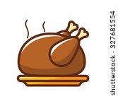 chicken grilled vector... | Shutterstock .eps vector #327681554