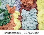 Small photo of abstract image colorful vertical position paper texture with aged look